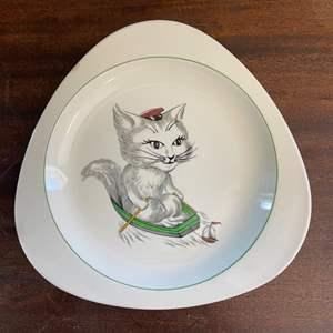 """Lot # 153 Spode Copeland England Plate Titled """"Cutie Kitten"""""""