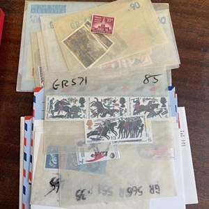 Lot # 157 Collection of Loose Stamps in Clear Envelopes