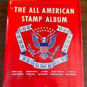 Lot # 160 The All American Stamp Album