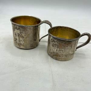 """Lot # 171 """"Frankie"""" and """"Frank Joseph"""" Silver Cups, Marked Sterling"""