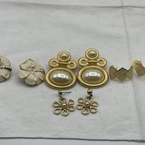Lot # 183 Lot of Gold-Tone Earrings