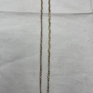 Lot # 194 Triple Braided Necklace Made in Italy, Marked 14k