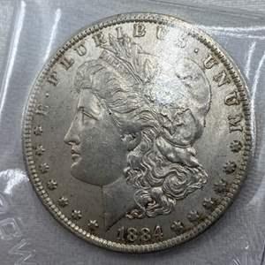 Lot # 204 1884-O Morgan Dollar