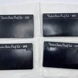 Lot # 218 Lot of US Proof Coin Sets: 1976, 1977, 1978, and 1979