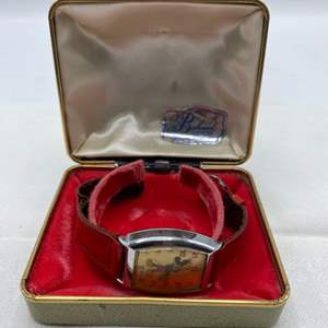 """Lot # 219 US Time Mickey Mouse Watch, Marked """"1740"""" on Back Un-Tested"""