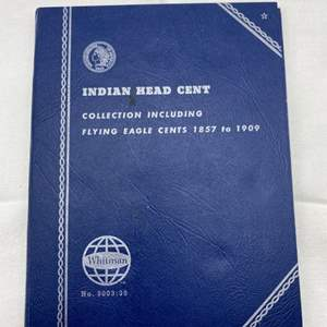 Lot # 222 Indian Head Cent Collection Book with Coins