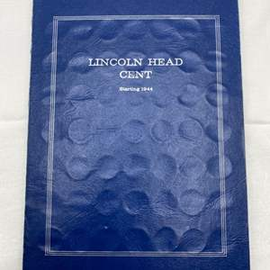 Lot # 224 Lincoln Head Cent Collection Book with Coins