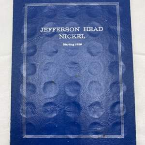 Lot # 225 Jefferson Head Nickel Collection Book with Coins