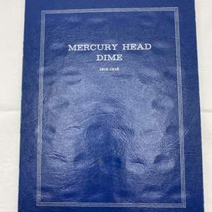 Lot # 226 Mercury Head Dime Collection Book with Coins