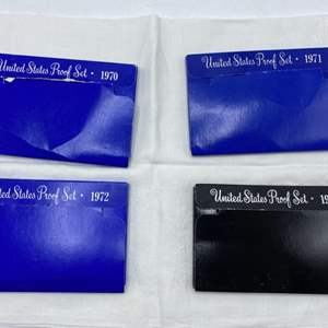 Lot # 231 Lot of US Proof Coin Sets: 1970, 1971, 1972, and 1973