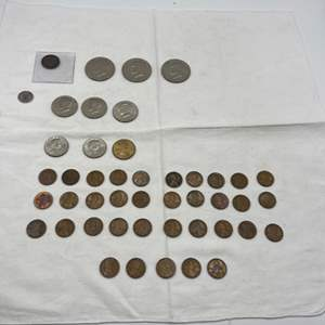 Lot # 236 Lot of US Coins, including 1866 2 Cent Coin