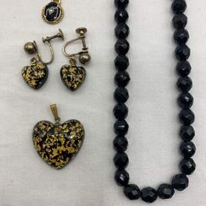 Lot # 245 Lot of Black and Gold-Tone Jewelry