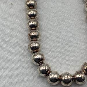Lot # 247 Sterling Beaded Necklace, Marked 925