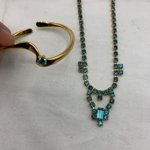 "Lot # 248 Teal ""Stone"" Set, Bracelet and Necklace"