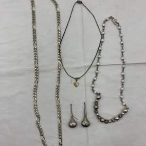 Lot # 259 Lot of Silver-Tone Jewelry (No Markings)
