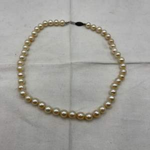 Lot # 264 Pearl Necklace with Sterling Clasp