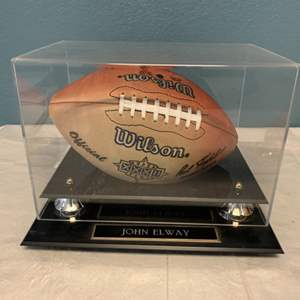 Lot # 266 Super Bowl XXXII JOHN ELWAY Autograph Ball