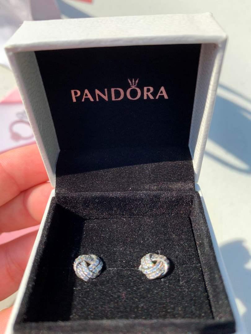 5 Pandora Sparkling Love Knots Studs Silver  (main image)