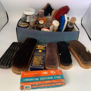 Lot # 6 Lot of Shoe Shine Items