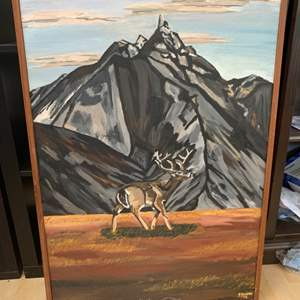 Lot # 10 1970s Painting of Buck