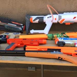 Lot # 55 Toy Gun Lot-Some Make Sounds-Some are Water Guns