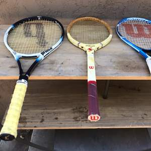 Lot # 61 Wilson Tennis Racquet Lot