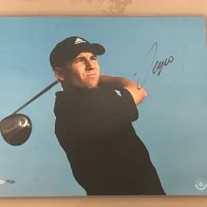 "Lot # 93 Sergio Garcia Upper Deck Autograph ""Black Shirt"""