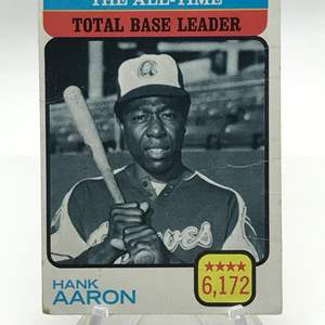 Lot # 160 1973 Total Base Leader HANK AARON