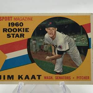 Lot # 161 1960 Topps Rookie JIM KAAT