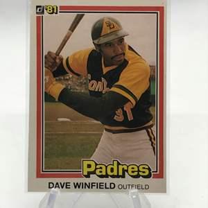 Lot # 163 1981 Donruss DAVE WINFIELD