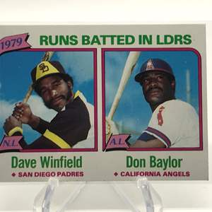 Lot # 168 1980 Topps Leaders DAVE WINFIELD/DON BAYLOR