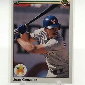 Lot # 173 1990 Upper Deck Rookie JUAN GONZALEZ