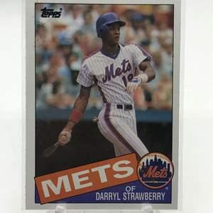 Lot # 177 1985 Topps DARRYL STRAWBERRY