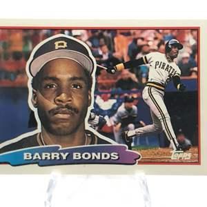 Lot # 179 1988 Topps BARRY BONDS