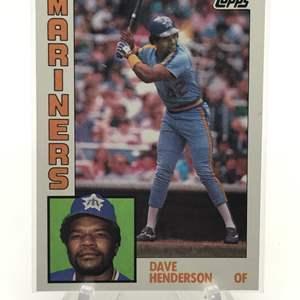 Lot # 180 1984 Topps DAVE HENDERSON