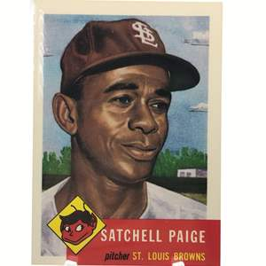 Lot # 181 1953 SATCHELL PAIGE 1991 TOPPS ARCHIVE REPRINT