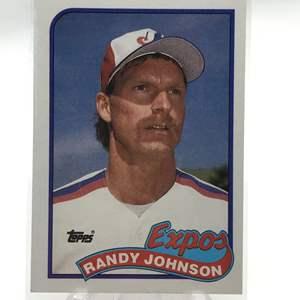 Lot # 182 1989 Topps Rookie RANDY JOHNSON