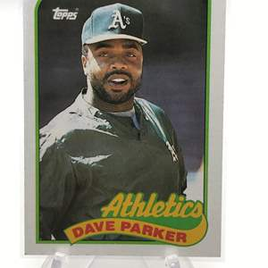 Lot # 187 1989 Topps DAVE PARKER
