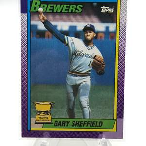 Lot # 191 1990 Topps Rookie GARY SHEFFIELD