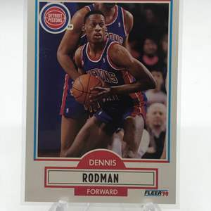 Lot # 216 1990 Fleer DENNIS RODMAN