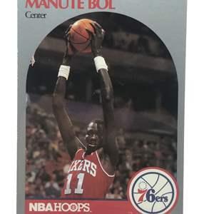Lot # 231 1990 Hoops MANUTE BOL