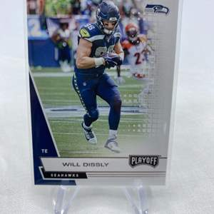 Lot # 37 2020 Panini Playoff Football WILL DISSLY Seahawks