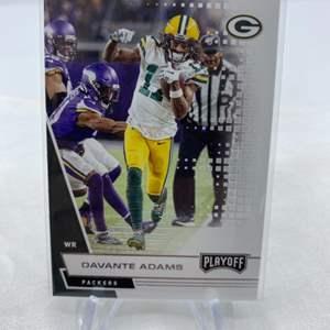 Lot # 40 2020 Panini Playoff Football DAVANTE ADAMS Packers