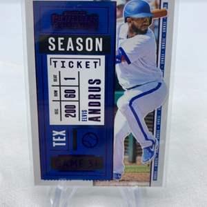 Lot # 71 2020 Panini Contenders Baseball Season Ticket ELVIS ANDRUS Texas