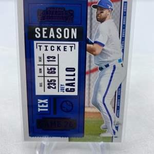 Lot # 72 2020 Panini Contenders Baseball Season Ticket JOEY GALLO Texas