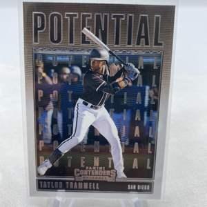 Lot # 78 2020 Panini Contenders Baseball TAYLOR TRAMMELL San Diego