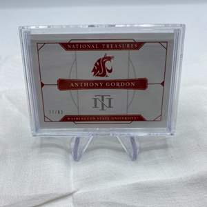 Lot # 81 2020 Panini National Treasures Collegiate ANTHONY GORDON Washington State University