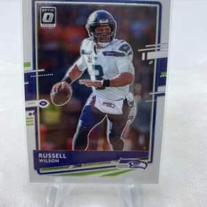 Lot # 83 2020 Panini Donruss Optic Football RUSSELL WILLSON Seattle Seahawks