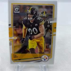 Lot # 87 2020 Panini Donruss Optic Football T.J. WATT Pittsburgh Steelers