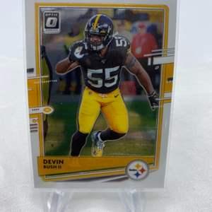 Lot # 88 2020 Panini Donruss Optic Football DEVIN BUSH II Pittsburgh Steelers